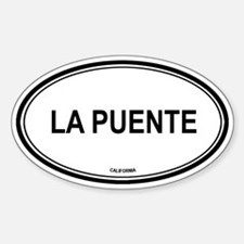 La Puente oval Oval Decal