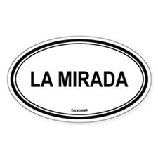 La Mirada oval Oval Decal