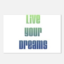 Inspirational Live Your Dreams Postcards (Package