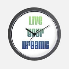 Inspirational Live Your Dreams Wall Clock