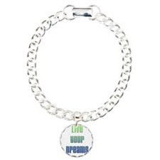 Inspirational Live Your Dreams Charm Bracelet, One