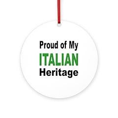 Proud Italian Heritage Ornament (Round)