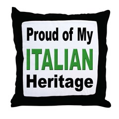 Proud Italian Heritage Throw Pillow