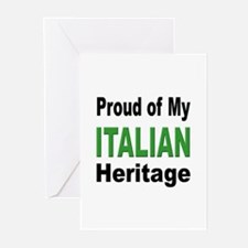 Proud Italian Heritage Greeting Cards (Package of