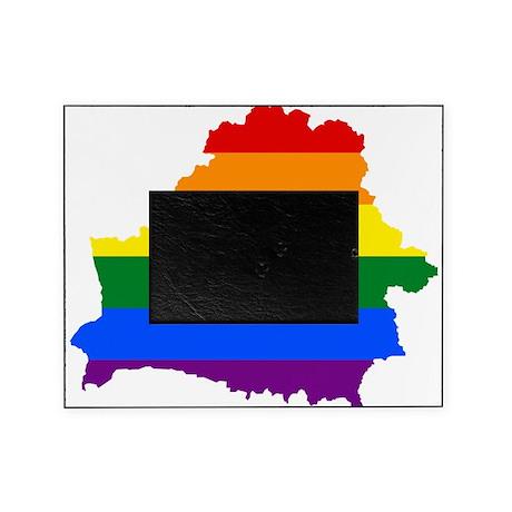 Rainbow Pride Flag Belarus Map Picture Frame