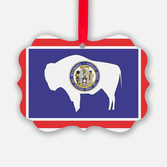Wyoming State Flag Ornament