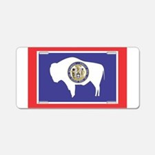 Wyoming State Flag Aluminum License Plate