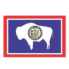 Wyoming State Flag Postcards (Package of 8)