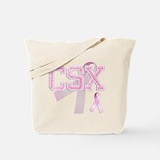 CSX initials, Pink Ribbon, Tote Bag