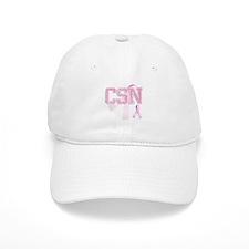CSN initials, Pink Ribbon, Baseball Cap