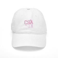 CSA initials, Pink Ribbon, Baseball Cap