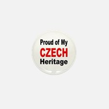 Proud Czech Heritage Mini Button (10 pack)