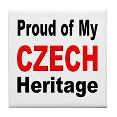 Proud Czech Heritage Tile Coaster