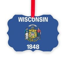Wisconsin State Flag Ornament