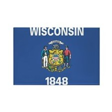 Wisconsin State Flag Rectangle Magnet