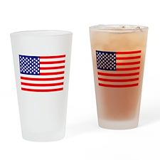 USA American Flag Drinking Glass