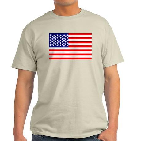 USA American Flag Light T-Shirt
