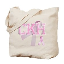 CKH initials, Pink Ribbon, Tote Bag