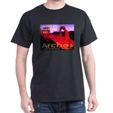 Delicate Arch Free-Soloed 7 M Black T-Shirt