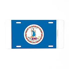 Virginia State Flag Aluminum License Plate