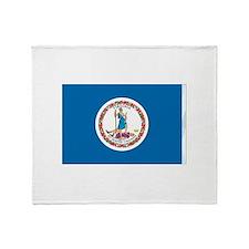 Virginia State Flag Throw Blanket