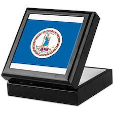 Virginia State Flag Keepsake Box