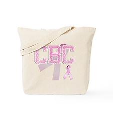 CBC initials, Pink Ribbon, Tote Bag