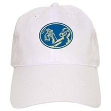 Spray Painter Spraying Gun Retro Baseball Cap