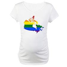 Rainbow Pride Flag Canada Map Shirt