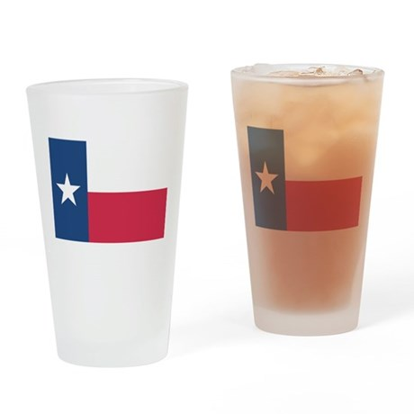 Texas State Flag Drinking Glass