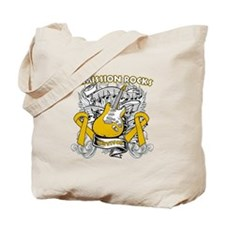 Remission Rocks Appendix Cancer Tote Bag
