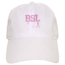 BSL initials, Pink Ribbon, Baseball Cap