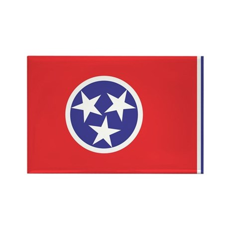 Tennessee State Flag Rectangle Magnet
