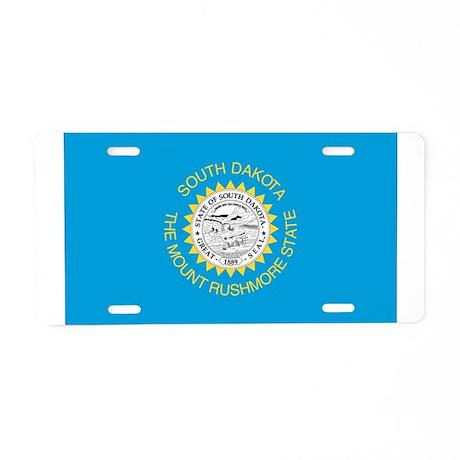 South Dakota State Flag Aluminum License Plate