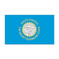 South Dakota State Flag Rectangle Car Magnet