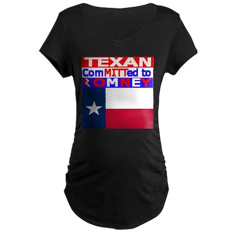 texasromneyflag.png Maternity Dark T-Shirt