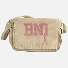 BNI initials, Pink Ribbon, Messenger Bag