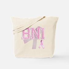BNI initials, Pink Ribbon, Tote Bag