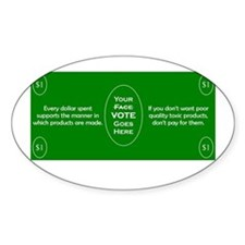 $1 = 1 Vote Decal