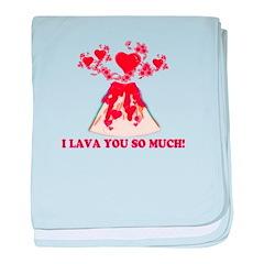 I Lava You baby blanket