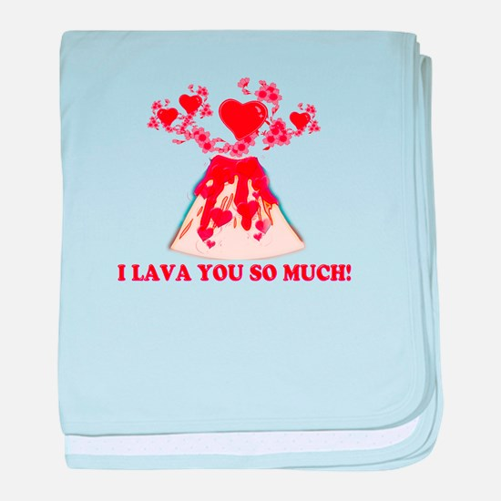 I Lava You baby blanket