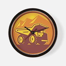 Mining Dump Truck Retro Wall Clock