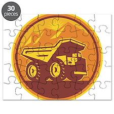Mining Dump Truck Retro Puzzle