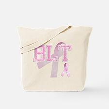 BLT initials, Pink Ribbon, Tote Bag