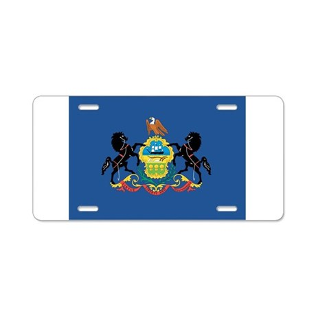 Pennsylvania State Flag Aluminum License Plate