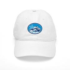 Snow Plow Truck Retro Baseball Cap