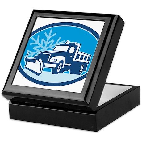 Snow Plow Truck Retro Keepsake Box
