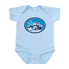 Snow Plow Truck Retro Infant Bodysuit