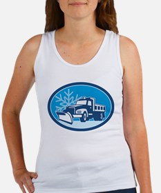 Snow Plow Truck Retro Women's Tank Top