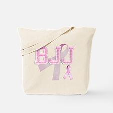 BJJ initials, Pink Ribbon, Tote Bag